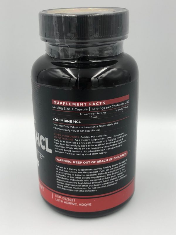usa supplements yohimbine 10mg 200 new 2020 skład