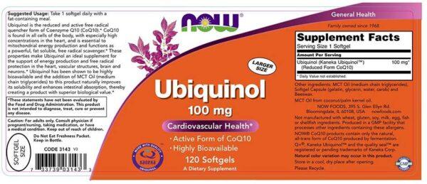now foods ubichonol 100 120 skład