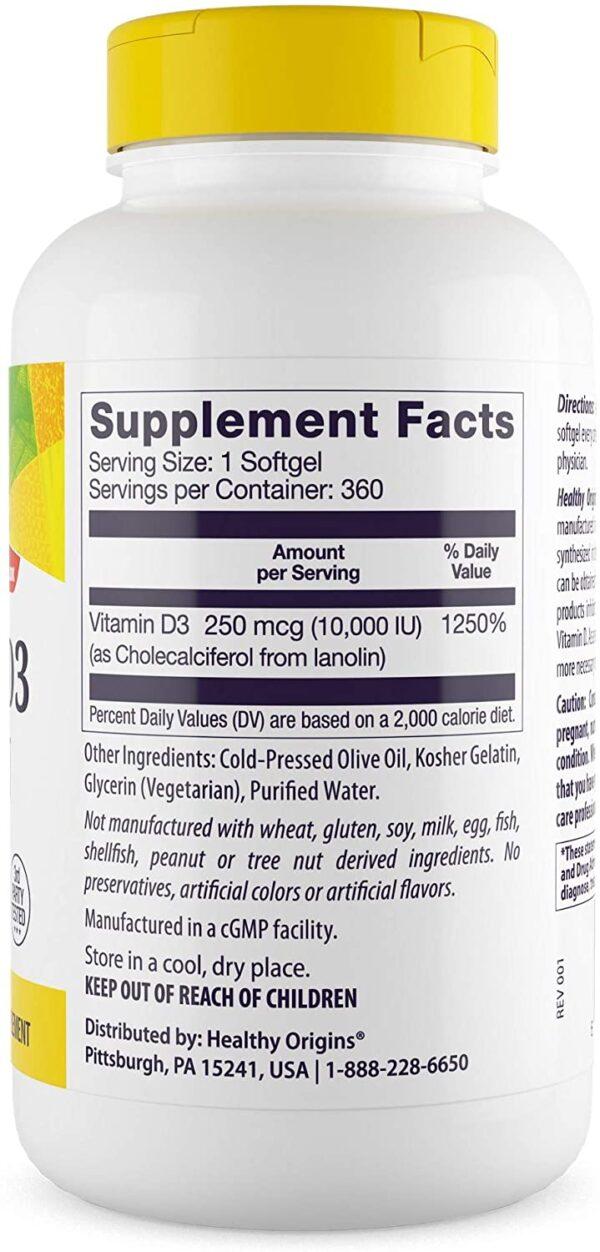 healthy origins witamina d3 10000 nowe 2020 2