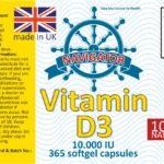 Navigator Vitamin D3 10.000 i.u. 365 softgels (1) makieta
