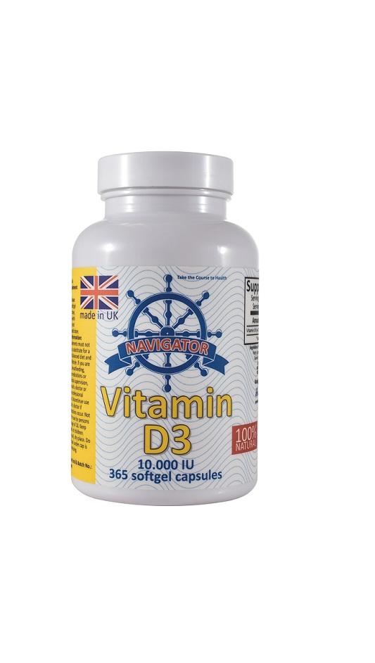 Navigator Vitamin D3 10.000 i.u. 365 softgels (5) makieta www