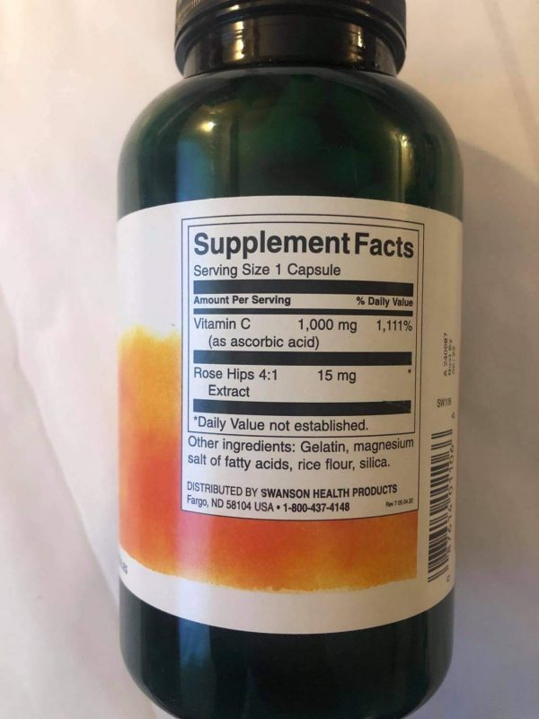 swanson witamina c 1000 250 skład
