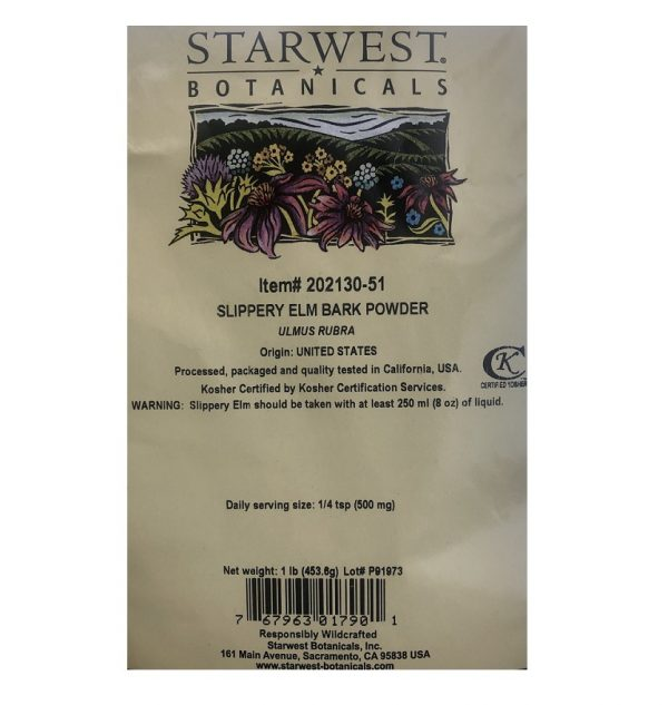 Starwest Botanicals Slippery Elm Bark 3 www