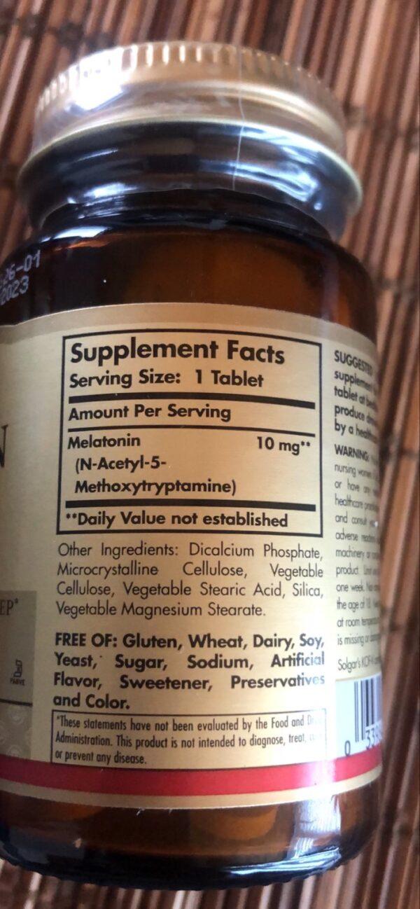 solgar melatonina skład