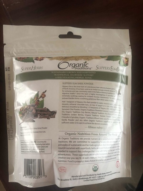 organic traditions slippery elm bark powder skład